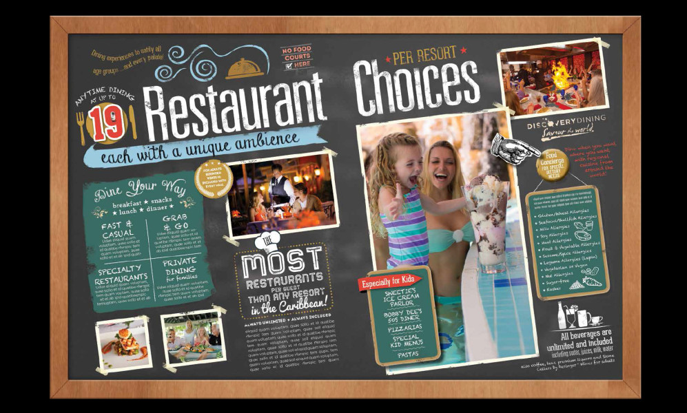 Infographic Spread for Beaches Resorts Dining Spread